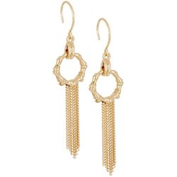 Napier Bamboo Ring & Chain Tassel Earrings