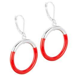 Napier Enamel Dropped Ring Earrings