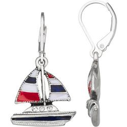 Americana Sailboat Lever Back Drop Earrings