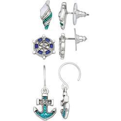 3-pc. Nautical Earrings Set