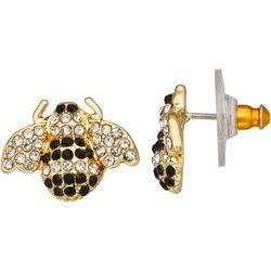 Napier Gold Tone Bumble Bee Drop Earrings
