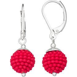 Napier Speckled Bead Drop Earrings