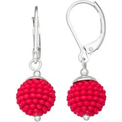 Speckled Bead Drop Earrings