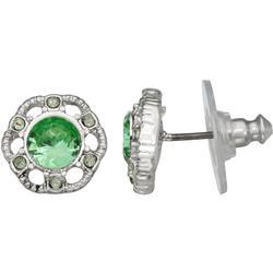 Floral Rhinestone Stud Earrings