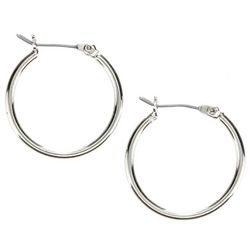 Nine West Small Silver Tone Hoop Earrings
