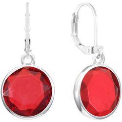 Gloria Vanderbilt Rose Pink Multi-Faceted Earrings