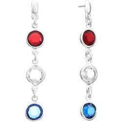 Gloria Vanderbilt Americana Triple Drop Post Earrings