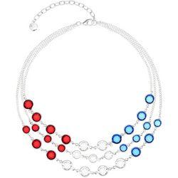 Gloria Vanderbilt 3 Row Americana Bead Necklace