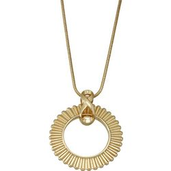 Napier Goldtone Sunburst Ring Pendant Necklace