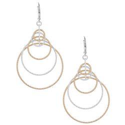 Nine West Two Tone Orbital Ring Earrings