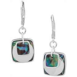 Nine West Abalone Square & Circle Drop Earrings
