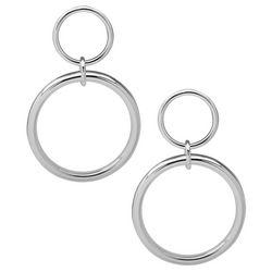 Nine West Double Circle Post Earrings