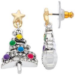 Napier Holiday Christmas Tree Drop Earrings