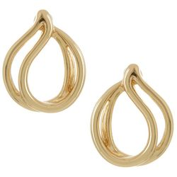 Napier Curve Expression Post Top Earrings