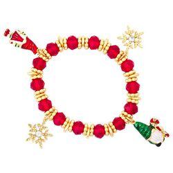 Napier Holiday Gnomes & Snowflakes Stretch Bracelet