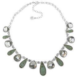 Gloria Vanderbilt Abalone Teardrop Necklace