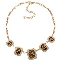Gloria Vanderbilt Cheetah Rhinestone Necklace