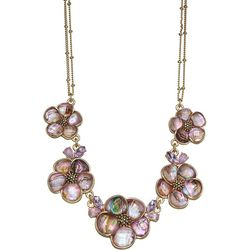 Napier Pink Flower Frontal Necklace