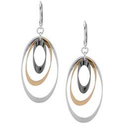 Nine West Triple Oval Loop Earrings