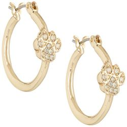 Napier Gold Tone Small Paddle Twist Stud Earring