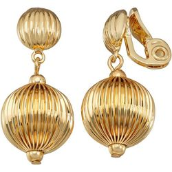Napier Gold Tone Textured Ball Clip On Earrings