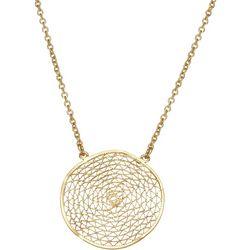 Napier Webbed Coin Medallion Chain Necklace