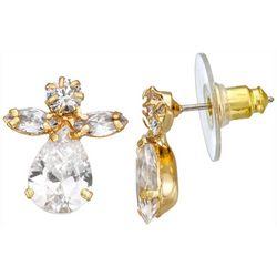 Napier Cubic Zirconia Angel Stud Earrings