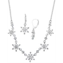 Napier Crystal Snowflake Earring & Necklace Set