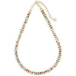 Gloria Vanderbilt Multi Color Mesh Chain Necklace