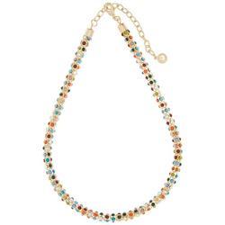 Multi Color Mesh Chain Necklace