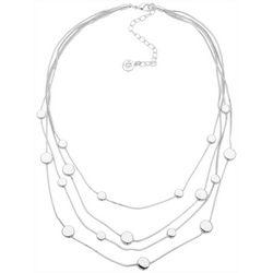 Gloria Vanderbilt 4 Row Silvertone Necklace