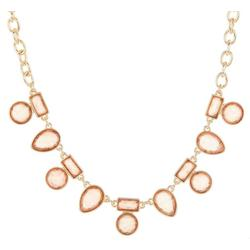Assorted Peach Shapes Frontal Necklace