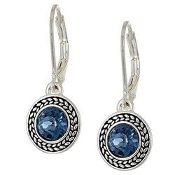 Napier Denim Blue Drop Earrings