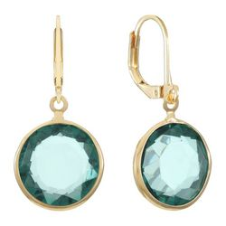 Gloria Vanderbilt Goldtone Stone Drop Earrings
