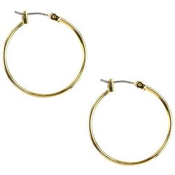 Napier Gold Tone Medium Hoop Earrings