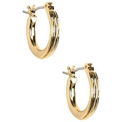 Napier Small Textured Hoop Earrings