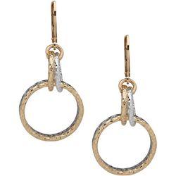 Nine West Two Tone Ring Drop Earrings