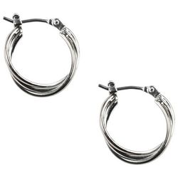 Napier Triple Twist Hoop Earrings