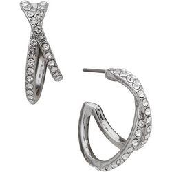 You're Invited 20MM Crystal C Hoop Earrings