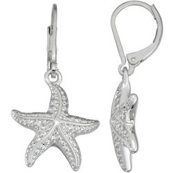 Napier Silver Tone Starfish Earrings