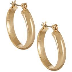Polished Gold Tone 22mm Hoop Earrings