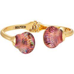 Napier Pink Shell Hinged Cuff Bracelet