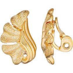 Napier Gold Tone Wavy Clip On Earrings