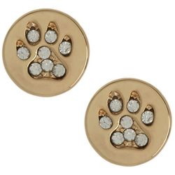 Napier Gold Tone Sand Dollar Clip On Earrings