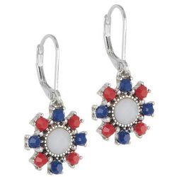 Napier Americana Floral Drop Earrings