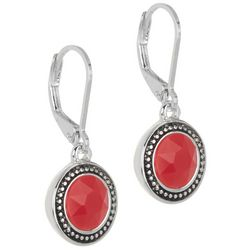 Napier Dotted Circle Drop Earrings