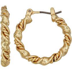 Napier 16 mm Small Twist Hoop Earrings