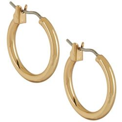 Napier 16mm Gold Tone Hoop Earrings