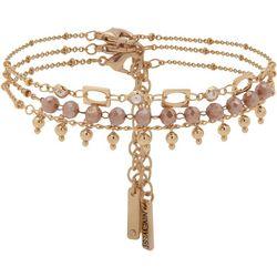 Nine West 3-pc. Gold Tone Bead Ankle Bracelet