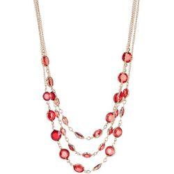 Gloria Vanderbilt Gold Tone Layered Frontal Necklace